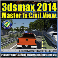 3ds max 2014 Civil View v 29.0 Italiano cd front