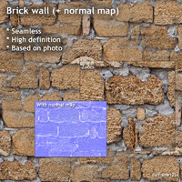 Brick wall (+ normal map)