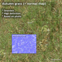 Autumn grass (+ normal map)