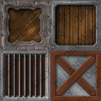 Hand Painted Crate Textures