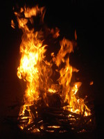 Flame campfire