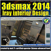 3ds max 2014 Iray Interior Design vol 4 Italiano cd front