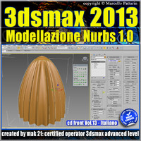 3ds max 2013 Modellazione Nurbs 1 vol13 italiano cd fornt