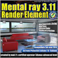 Mental Ray 3.11 In 3dsmax 2014 Vol.7 Italiano cd front
