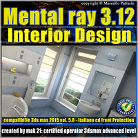 Mental ray 3.12 in 3dsmax 2015 Vol.5 Interior Design Cd front