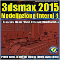 3ds max 2015 Modellazione Interni v.9.0 Italiano cd front
