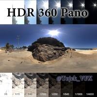 HDR 360 pano Rio ocean beach park7 7k