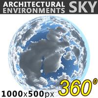 Sky 360 Clouded 004 1000x500