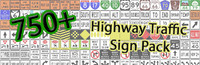 US Highway Sign Pack - Low Resolution