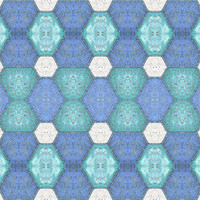 Blue and White Block Tile