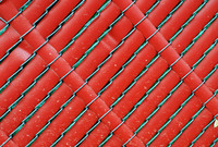 Red Plastic Slat Fence