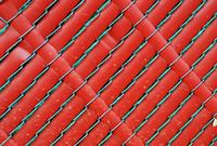 Red Plastic Slat Fence