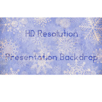 Presentation Snowflake Backdrop