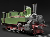 steam locomotive 3d 3ds