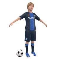 3d model soccer kid