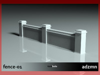 fence f 3d model