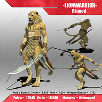 lion warrior fantasy x