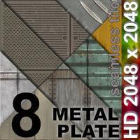8 x Metal Plates | Tileable | 2048px