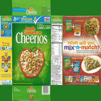 Apple Cinnamon Cheerios Box Texture
