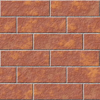 Seamless procedural brick wall