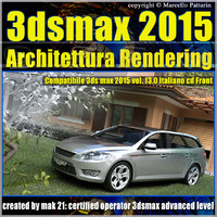 3ds max 2015 Architettura Rendering vol13_cd front