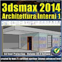 3ds max 2014 Architettura Interni 1 vol 30 Italiano cd front