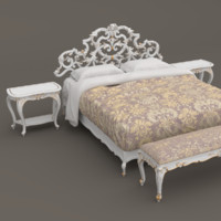 classic bedroom furniture set 3d model