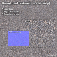 Gravel road (+ normal map)