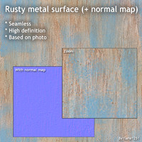 Rusty metal surface (+ normal map)