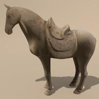 horse statuettes 3d max