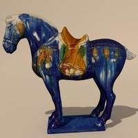 3d figurine horse statuettes