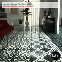 Hydraulic Mosaic Tiles Set - n.001
