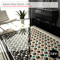 Hydraulic Mosaic Tiles Set - n.004