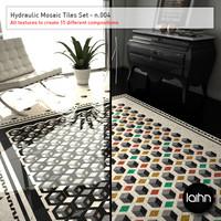 Hydraulic Mosaic Tiles Set - n.004