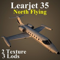 3d learjet 35 nfa model