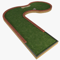 mini golf course 3d model