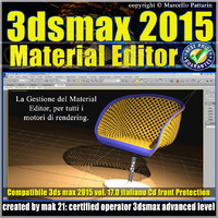 3ds max 2015 Material Editor Vol. 17 Italiano cd front