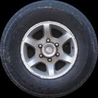 Truck wheel texture map