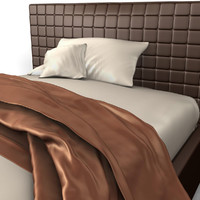 bed throw pillows 3d model
