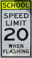 Speed Limit School Zone SIgn