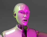 completely rigged male humanoid 3d model