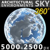 Sky 360 Clouded 004 5000x2500