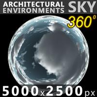 Sky 360 Clouded 009 5000x2500
