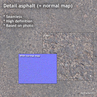 Detail asphalt (+ normal map)