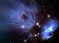 Space nebula RC21