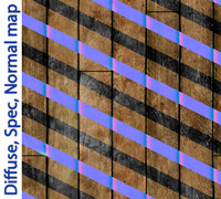 Wood plank tileable