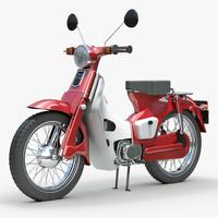 vintage scooter 3d model