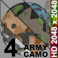 4 x Camo - Set 1 | Tileable | 2048px