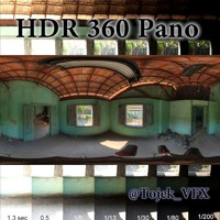 HDR 360 pano 3D Country Shack Interior
