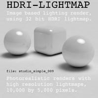 HDRI studio simple 009